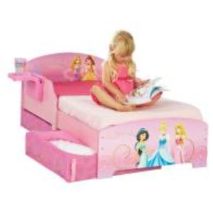 Worlds Apart Lit d'enfant avec rangement et étagère Disney Princesses (70 x 140 cm)