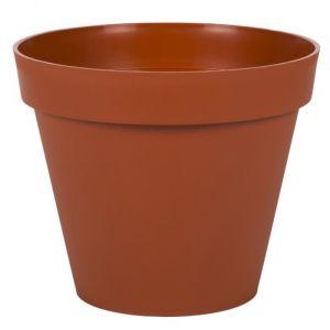 Eda Plastiques Pot gamme Toscane orange Ø 25 cm