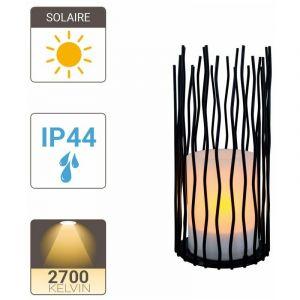 Xanlite Lampe à poser Solaire IP44 Blanc chaud Effet flamme 8h d'autonomie - SOLAPFL