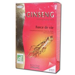 Biotechnie Compléments Alimentaires Ginseng Bio