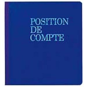 Exacompta Piqûre position de compte bancaire 20 pages (210 x 190 mm)
