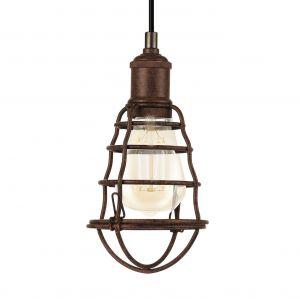 Eglo Lampe suspendue PORT SETON 60 W Marron antique 49809