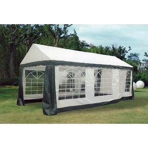 Tente de reception 3x6 m blanc/vert