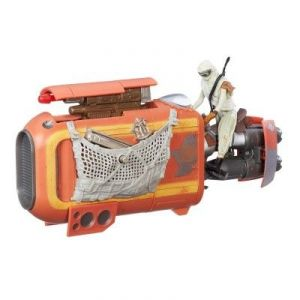 Hasbro Rey's Speeder (Jakku) - Véhicule Star Wars Class I avec figurine 9.5 cm