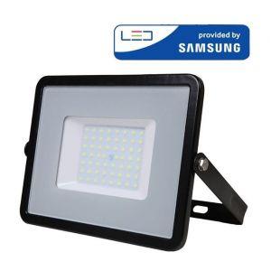 V-TAC Projecteur LED Pro Noir 50W Samsung Chip Vt-50 - Blanc Neutre - 4000k - 100 Deg