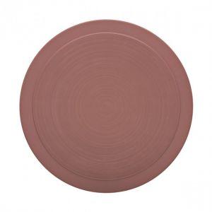 Guy Degrenne Assiette plate ronde 26cm rose sable en grès - A l'unité - Bahia