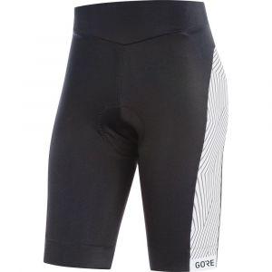 Gore Wear C3 Optiline Short Femme, Noir/Blanc, FR : M (Taille Fabricant : 38)