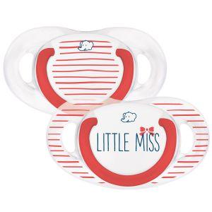 Bébé Confort 2 sucettes silicone Natural Physio Little Miss 0-6 mois