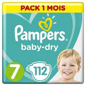 Pampers Baby-Dry taille 7 (+15 kg) - 112 couches