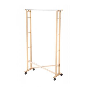 Décoshop26 Portant à vêtements avec roulettes pliable en bois DIV10001