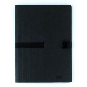 Elba 100201314 - Chemise extensible à sangle Clip'n Go A4, en carte souple 5/10e, coloris noir