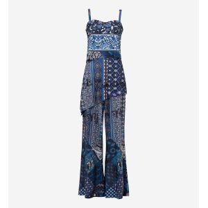 Desigual Combipantalon à imprimé ornemental Bleu - Taille 40