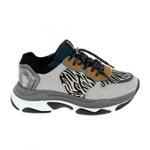 Bronx Chaussures Sneakers 2352 Gris Zebre Gris - Taille 37