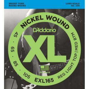 D'Addario EXL165 XL Nickel Wound (.045-.105) - Jeu de cordes pour basse
