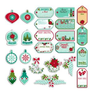 Toga Découpe en papier Joyeux Noël - 24 pcs