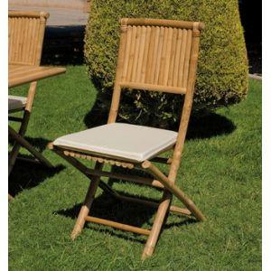 Hévéa Chaise de jardin pliante en bambou