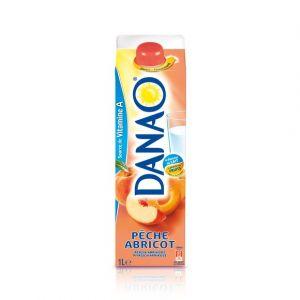 Danao Jus de fruits à base de lait - Pêche abricot - La brique de 1L