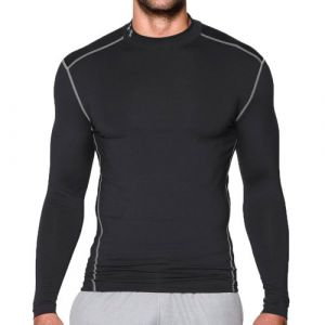 Under Armour by JBL Under Armour UA CG Armour Mock Chemise à Manches Longues Homme Black FR : S (Taille Fabricant : SM)