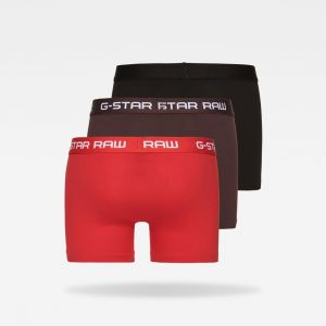 G-Star Raw Raw Classic Trunk 3 Pack boxer Hommes noir marron rouge T. S