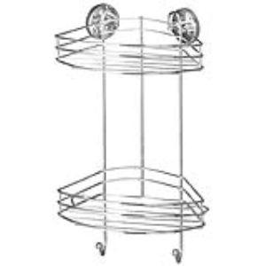 Wenko 20885100 - Etagère d'angle 2 niveaux Vacuum-Loc