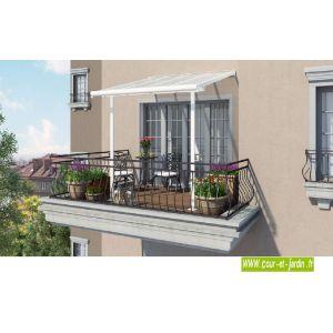 Chalet et Jardin Pergola alu adossée Couv'Terrasse (2 x 2 m)
