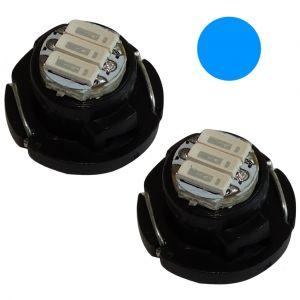 Aerzetix : 2x ampoules T4.7 3LED SMD 12V 1W lumière bleue pour tableau de bord C19692