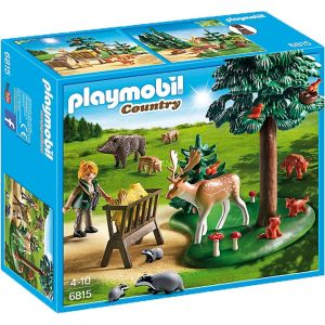 Playmobil 6815 Country - Clairière avec animal et mangeoire
