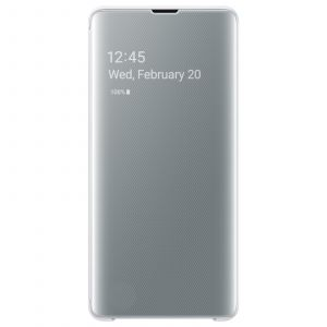 Samsung Etui S10+ Clear View cover blanc
