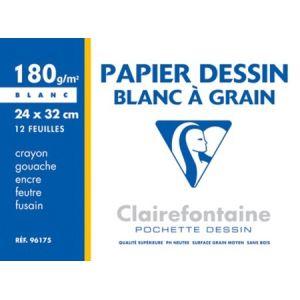Clairefontaine 96185C - 10 Feuilles de papier dessin 180 g (A3)