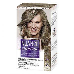 Schwarzkopf Nuance Suprême - Coloration Cheveux - Blond Foncé Cendré 7-1 - 60 ml