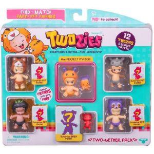 Giochi Preziosi Coffret 6 bébés Twozies + 6 animaux (modèle aléatoire)