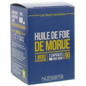 Nutrisanté Huile de Foie de morue (60 capsules)