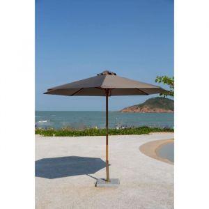 Finlandek Parasol de jardin imperméable de 3m - En bois d'eucalyptus - Toile imperméable en polyester - Dimensions ouvert : 300x300x260cm.