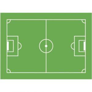 Dekoback Gâteau aufleger Terrain de Football, 1er Pack (1 x 20 g Carton)