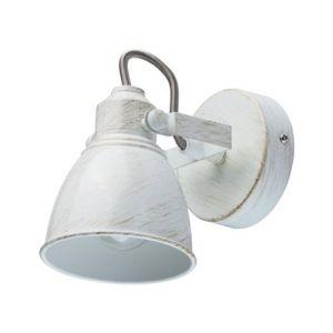 MW-Light Applique spot mural élégant à une lampe réglable de style moderne industriel en métal couleur blanc et or avec abat-jour en métal, pour salon ou chambre, ampoule non fournie 1*40W E14