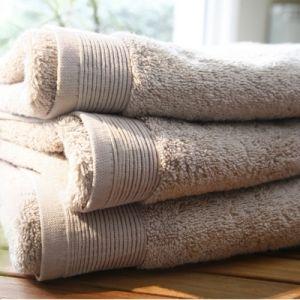 Blanc des vosges Eponge unie Gant Coton Sable 16x22 cm