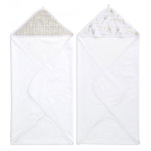 Aden + Anais Aden essentiels capes de bain bébé starry star, lot de 2