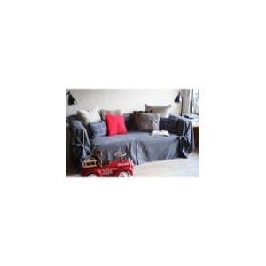 Comptoir des toiles Housse de canapé bachette Ines 3 places en coton