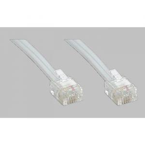 9139TM04 - Câble RJ11 Haut-Débit ADSL 10 m - Blanc