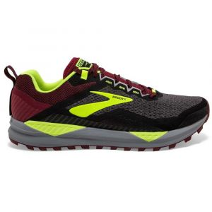 Brooks Cascadia 14, Chaussures de Running Homme, Noir (Black/Red/Nightlife 031), 44 EU