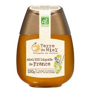 Terre de miel Squeezer Miel toutes fleurs bio France 250 g