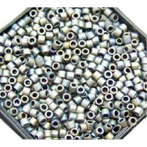 Rayher Perles Miyuki Delica 10/0 métallic dépoli anthracité - DMB 307