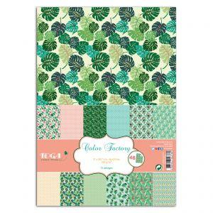 Toga Papier scrapbooking - Color Factory - Jungle - 48 feuilles en A4