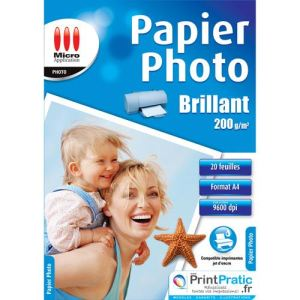 Micro application 20 feuilles de papier photo Eco 200 g/m² (A4)