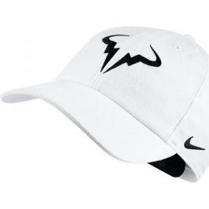 Nike 850666-101 Casquette de Tennis Réglable Mixte Adulte, Blanc/Noir, FR : Taille Unique (Taille Fabricant : Taille Unique)