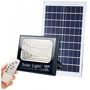 Image de SysLED Projecteur extra plat LED Solaire Blanc Froid de 10W,25W,40W,60W,100W,200W au choix étanche (IP65) | Puissance Watt: 100W/4460Lms