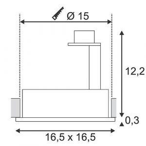 SLV Spot encastrable Ampoule halogène, LED GU10 113830 75 W noir (mat)