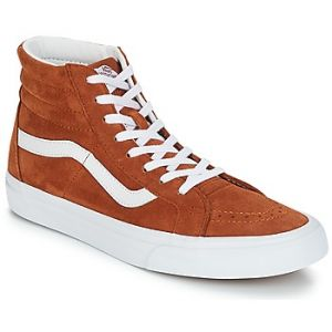 Vans Sk8-Hi Reissue Pig Suede Leather Brown/True White Baskets - Sneakers