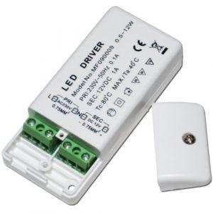 "Chilitec 'Transformateur LED""CT-V212e, 0,5%u201312W, 230V sur 12V = rectangulaire"