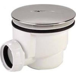 Nicoll 0205070 - Bonde de douche siphoïde avec enjoliveur sortie horizontale diamètre 90mm Plastique